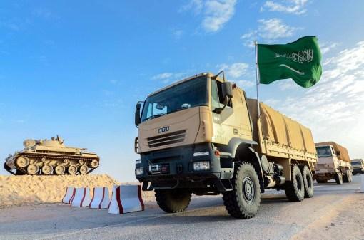 "A Saudi Arabian National Guard STI-Steyr HTV truck during ""Northern Thunder"""