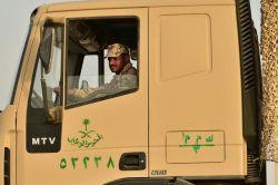 "A Saudi Arabian National Guard STI-Steyr MTV truck during ""Northern Thunder"""
