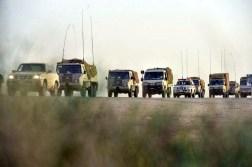 "Saudi Arabian National Guard Pinzgauer 716M & Peugeot Boxer trucks during ""Northern Thunder"""