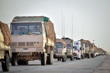 "Saudi Arabian National Guard Pinzgauer 716M & Steyr 12M18 trucks during ""Northern Thunder"""