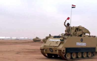"An Egyptian Army M901 ITV during ""Northern Thunder"""