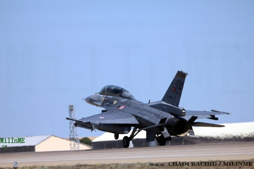 A Turkish Air Force F-16D Block 50 at NTM 2016, Zaragoza Air Base, May 20.