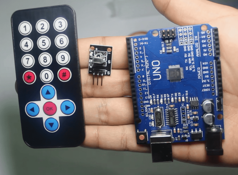 Infrared remote and receiver module for arduino