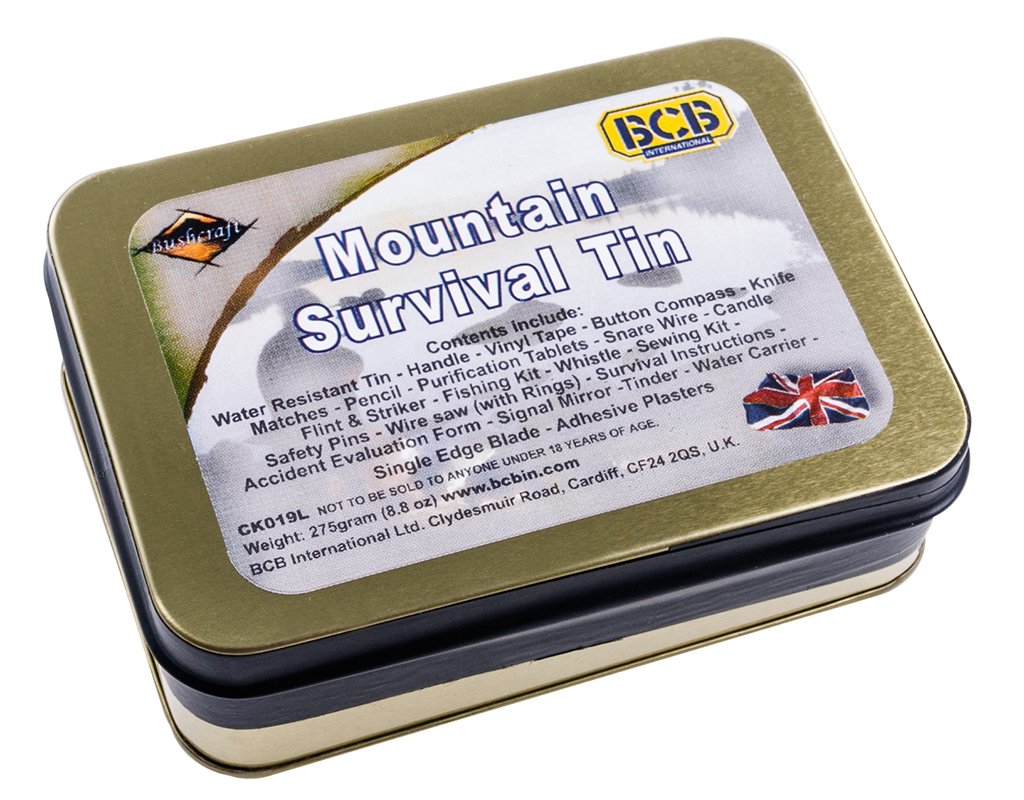 mountain survival tin