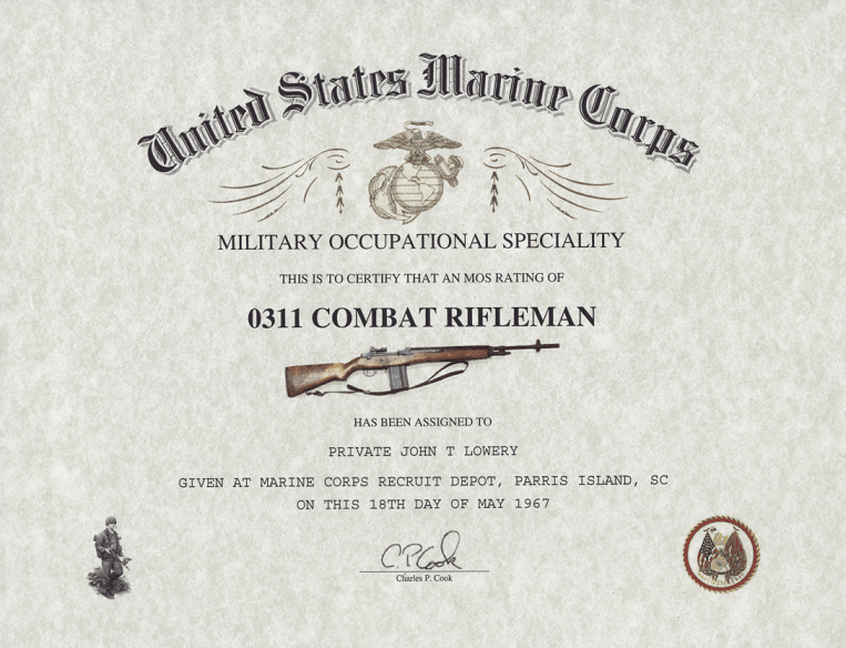 MOS 0311 USMC Infantry Rifleman