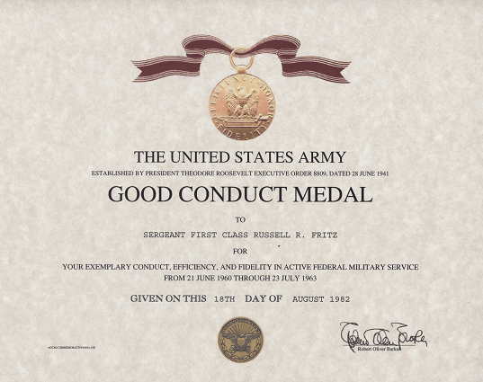 army good conduct medal certificate template - honorable discharge certificate replacement