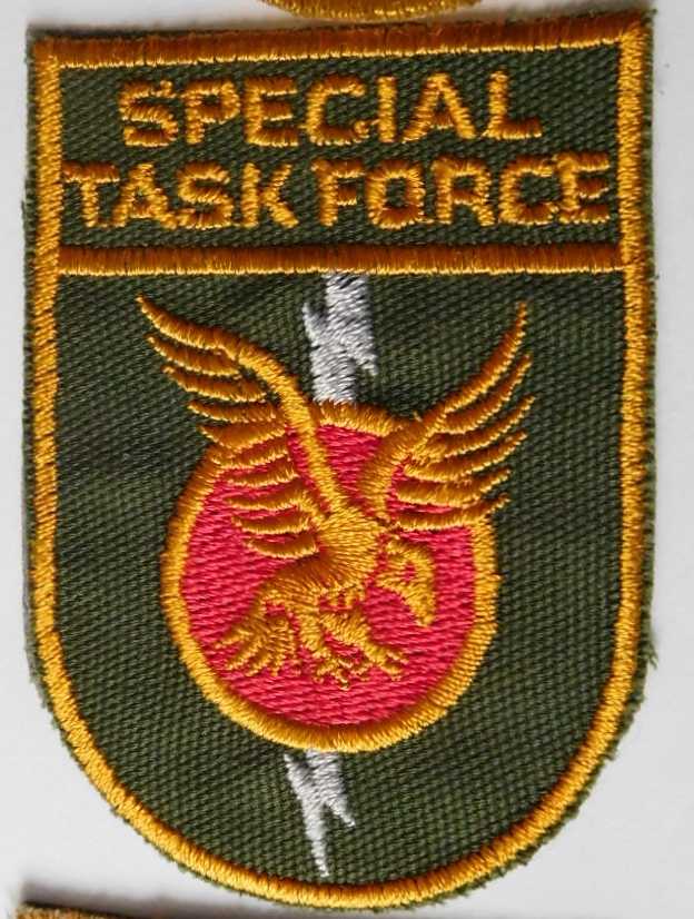 SAP South African Police Special Task Force patch Right hand GREEN