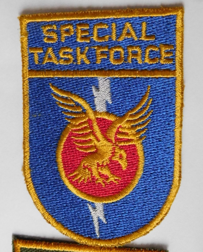 SAP South African Police Special Task Force patch Right hand BLUE