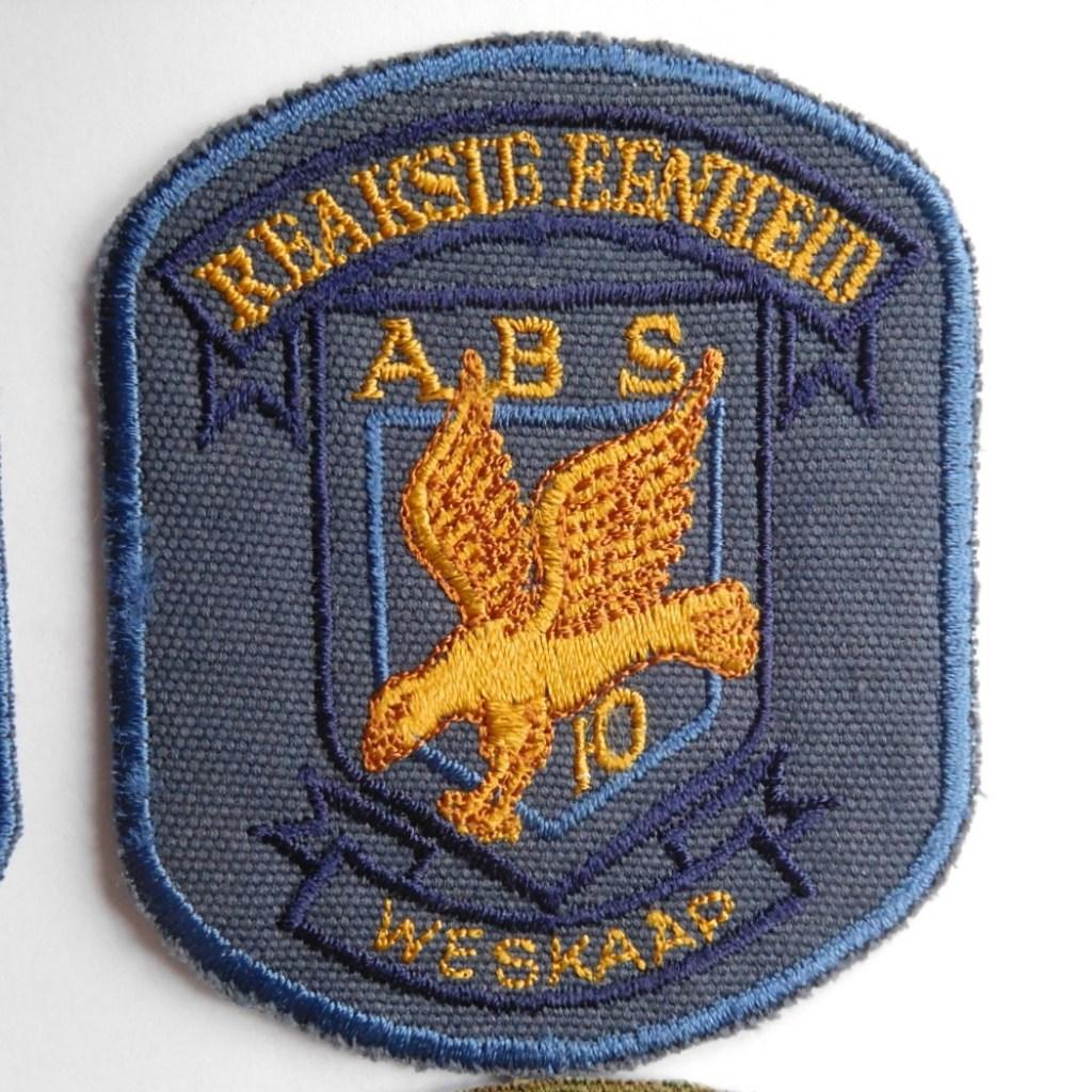 SAP South Africa Police 10 Reaction Unit WESKAAP Arm Cloth Badge BLUE