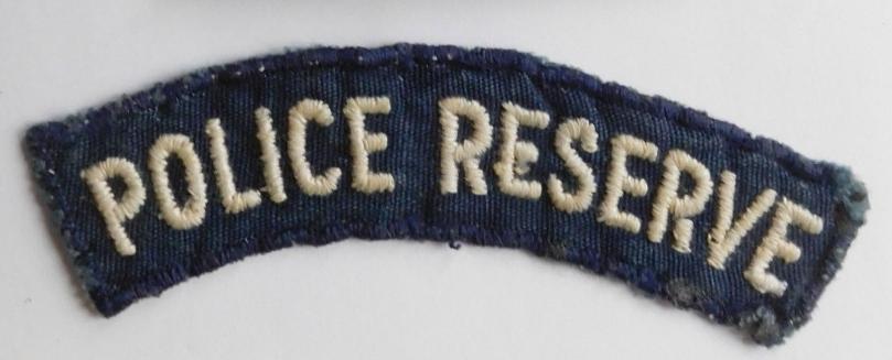 BSAP British South Africa Police Reseve Cloth shoulder title BLUE