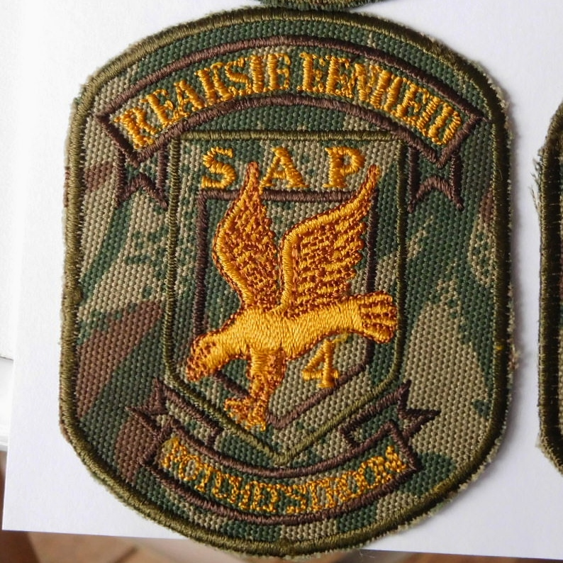 SAP South Africa Police 4 Reaction Unit POTCHEFSTROOM Arm Cloth Badge CAMO