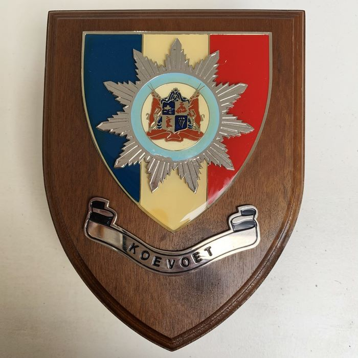 KOEVOET SWA South West Africa ELITE Police SWAPOL Special Force Wooden Plaque Shield