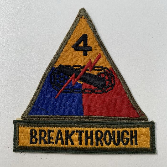 US United States BREAKTHROUGH 4 Armoured Centre ARMY Kentucky Cloth Badge Patch