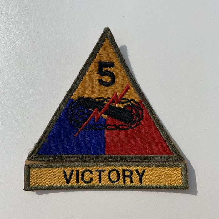 US United States VICTORY 5 Armoured Centre ARMY Kentucky Cloth Badge Patch