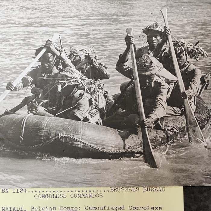 Belgium Belgian CONGO Special Forces Commandos 1956 Jungle Warfare Credit United Press Photo