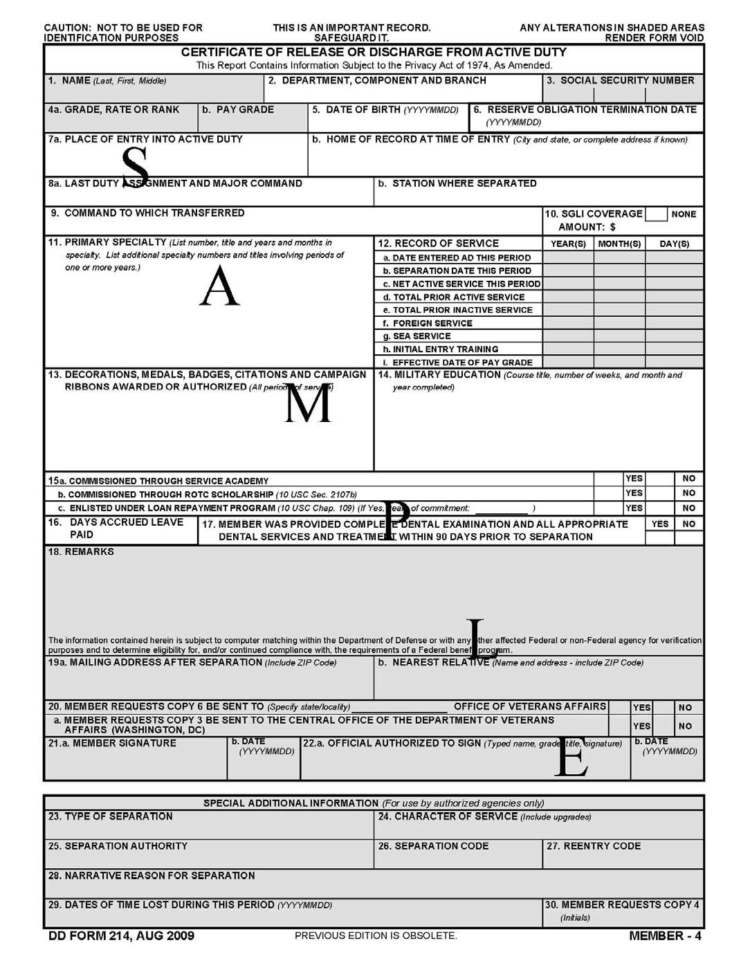 How To Read Dd Form 214