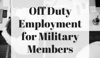 Off Duty Employment for Military Members
