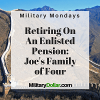 Retire on a military pension