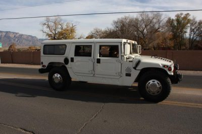 White hummer in parade