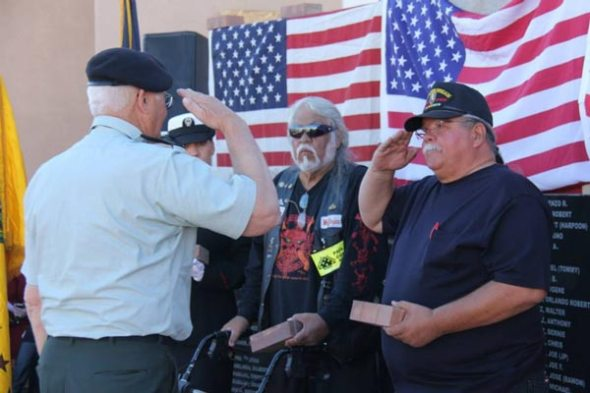 Men saluting