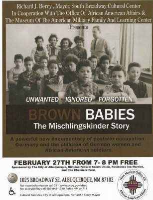Brown Babies Poster The Mischlingskinder Story