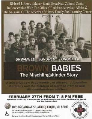 Brown Babies Poster The Mischlingskinder Story