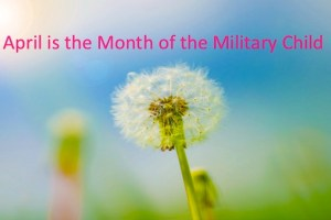 Photo of Dandelion with Month of the Military Child
