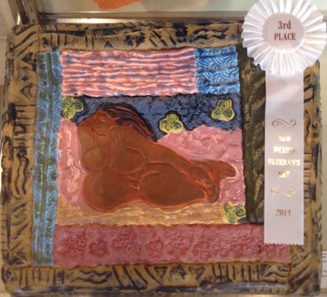 Prize winning pottery piece by Caroline LeBlanc