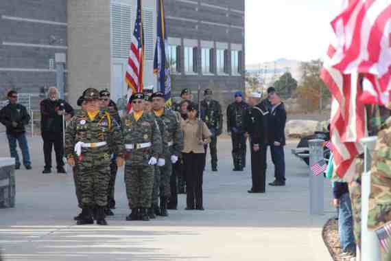 Color Guard outside at Salute to Heroes Veterans Day Celebration 2014