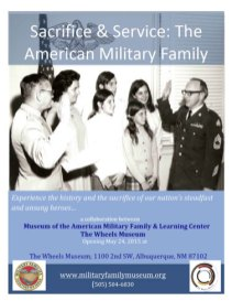 Sacrifice & Service at Wheels Museum Poster with Swearing In Image