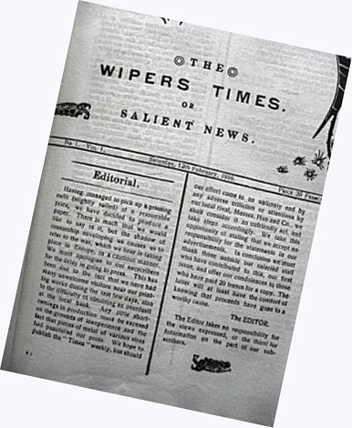 'The Wipers Times' — Soldiers' Own Newspaper Let Tommies Laugh at Trench Warfare