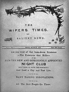 A copy of The Wipers Times. (Image source: WikiCommons)