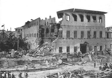 The 38-minute cannonade devastated the royal palace on Zanzibar. Britain later demanded the tiny nation reimburse it for the shells.