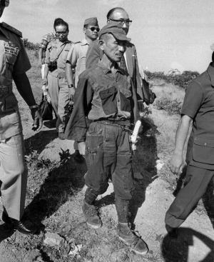 2nd Lt. Hiroo Onoda surrenders to Filipino authorities in March, 1974 -- Nearly 30 years after the end of the Second World War. Image courtesy the Associated Press.