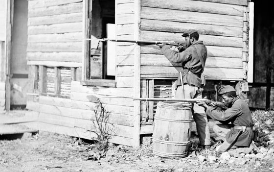 "By the end of the Civil War, as many as one in ten Union soldiers were African American. While a vocal minority stubbornly assert that ""thousands"" of blacks also took up arms to defend the Confederacy, most historians reject the idea. (Image source: WikiCommons)"