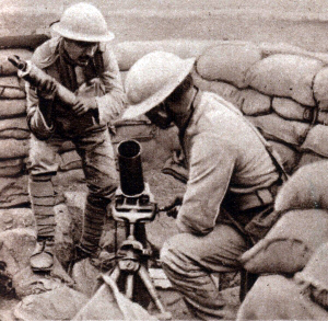 Portugese troops fighting Germans in France using British equipment.