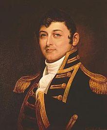 Isaac Hull was the toast of the new United States after scoring . (Image source: WikiCommons)
