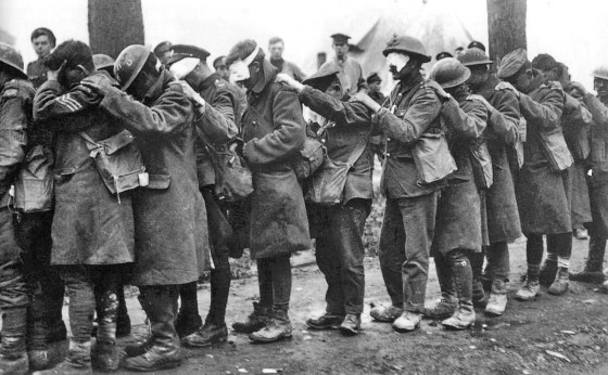 By the end of World War One, most countries were ready to renounce the use of chemical weapons in warfare... but not all. Image courtesy the Imperial War Museums via WikiCommons (public domain).