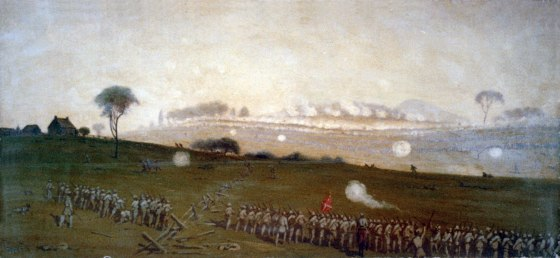 Pickett's Charge was an unmitigated disaster for the Confederate army. Some units were completely annihilated.