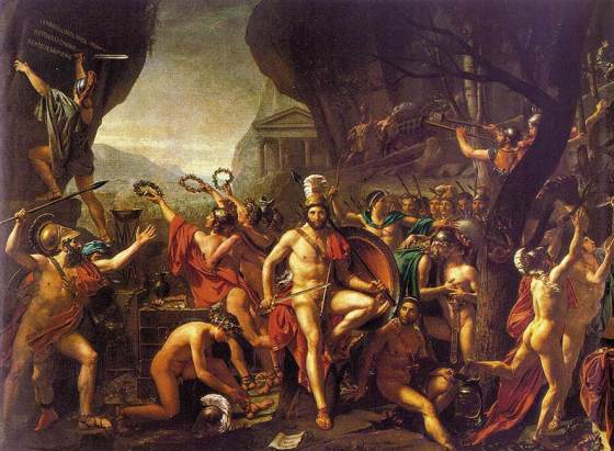 King Leonidas I of Sparta lost a lot more than his pants at Thermopylae -- his entire army was wiped out.
