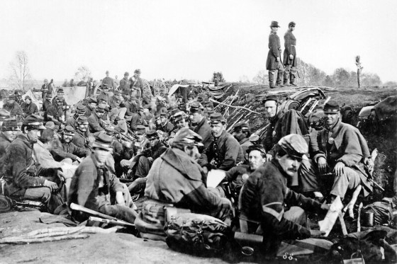 Union troops encamped near Fredericksburg. (Image source: WikiCommons)