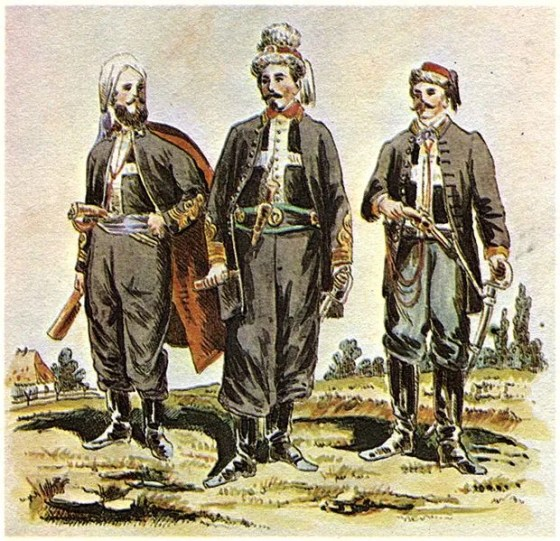 Poland's Zouaves of Death chose a mostly black uniform, which was a departure from the vivid reds and blues seen in other Zouave units.