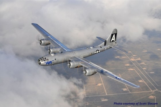Fi Fi is the last flying B-29 in the world. She'll be touring the U.S. this summer with the Commemorative Air Force.