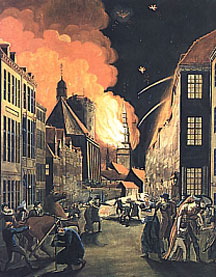 The 1807 bombardment of Copenhagen.