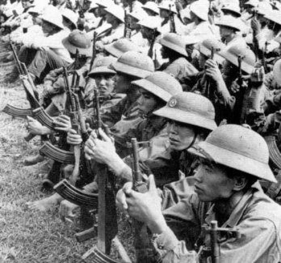 NVA troops and their AK-47s. (Image source: WikiCommons)