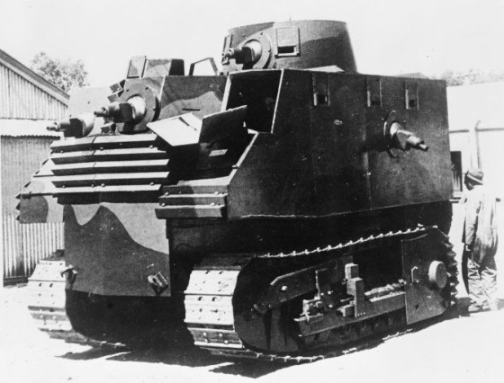 The New Zealand government's answer to a Japanese invasion -- the Bob Semple tank.