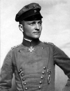 Von Richthofen scored 80 victories. He was 25 years old when he died.