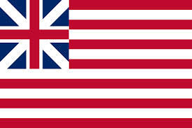The American flag that appears in the painting is incorrect -- This was the flag of the rebellion until 1777.