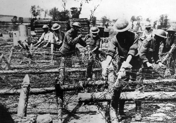 More than a million miles of barbed wire was laid on the Western Front alone between 1914 and 1918 -- and to some, that's a conservative estimate.