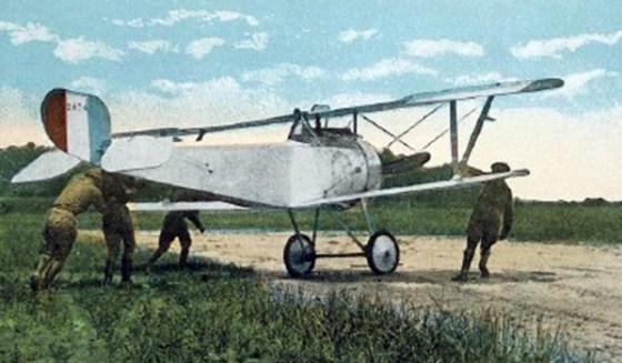 Eugene Bullard flew a French Nieuport like this one over the Western Front in 1917 and 1918.